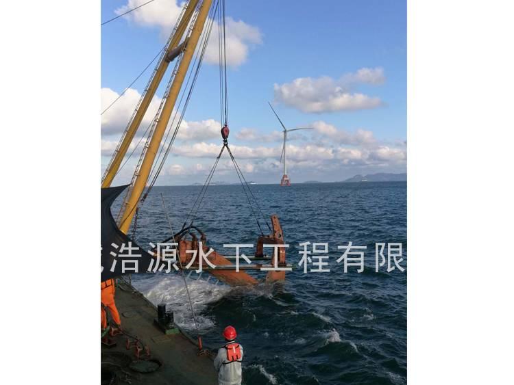 2018珠海桂山岛海域铺海底电缆