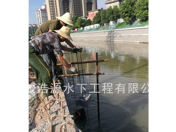 2018南京用水泥砖垒水下护坡