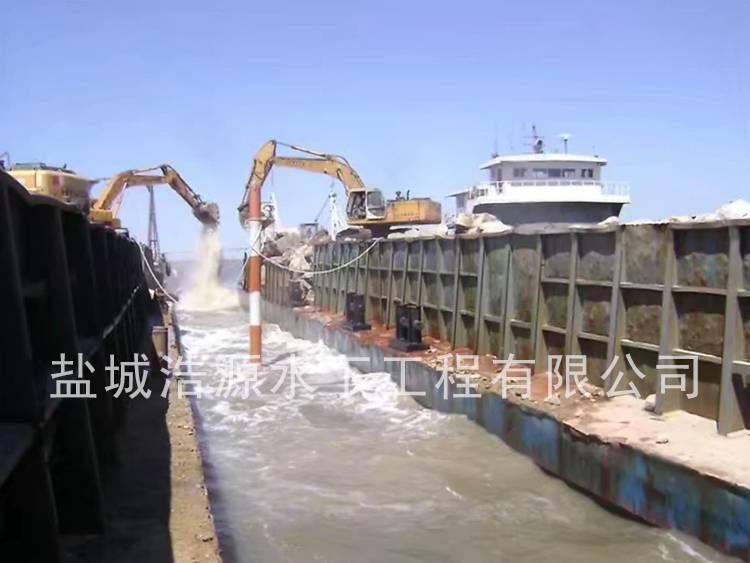 2012盘锦港导堤抛石